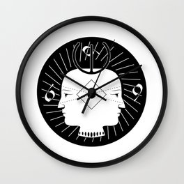 Janus Secret society Wall Clock