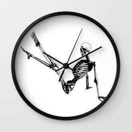 Skeleton Breakdance Wall Clock