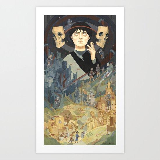 Journey into Death Art Print