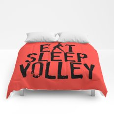 Eat Sleep Volley Comforters
