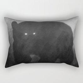 Black and White Bear Silhouette Rectangular Pillow