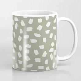Simply Ink Splotch Lunar Gray on Green Tea Coffee Mug