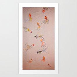 Goldfish Pond   #society6 #decor #buyart    http://www.youtube.com/watch?v=LaECI55ENvQ Art Print