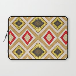 Umber and Gold Diamond Pattern Laptop Sleeve
