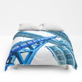 Tower Bridge 02B - Going Up (Blue) Comforters