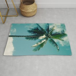 Niu Hawaiian Tropical Coconut Palm Tree Keanae Maui Hawaii Rug