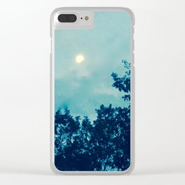 Sullen moon Clear iPhone Case