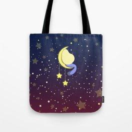 Girl on a moon Tote Bag