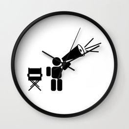 Movie director abstract icon Wall Clock
