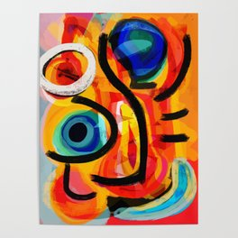 Abstract Art Good Energy Summer Vibes Poster