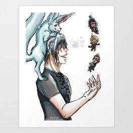 Final Fantasy XV - Chibified! Art Print