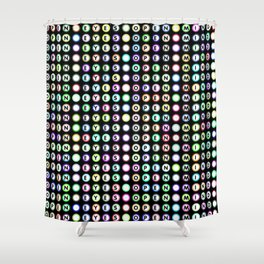 Open eyes open mind typography Shower Curtain