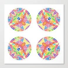 Kaleidoscopic Circles Canvas Print