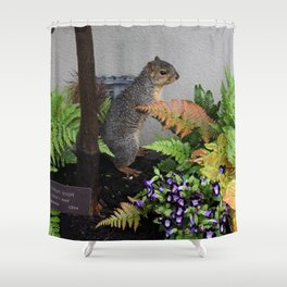 If I stand still maybe she won't see me! Shower Curtain