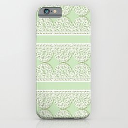 Lace Pattern Neck Gator Lacey Green iPhone Case