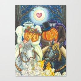 SLEEPY HOLLOW WEDDING - Brack Headless Horseman Halloween Art Canvas Print
