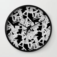 frames Wall Clocks featuring Changing Frames by ValentinaFloraAngelucci