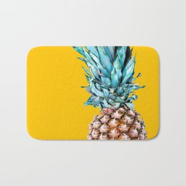 Pineapple Ananas On A Yellow Mellow Background #decor #society6 #buyart Bath Mat