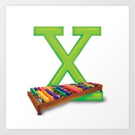 X is for Xylophone Art Print