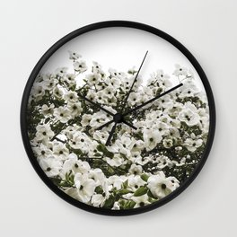 Demure Dogwood Wall Clock