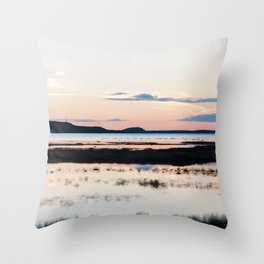 Sunset in Iceland - nature landscape Throw Pillow