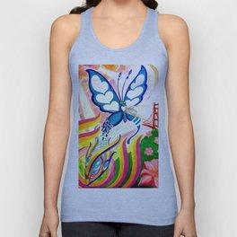 """""""SF Butterfly"""" by Adam France Unisex Tank Top"""