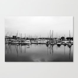 Boats Reflex Canvas Print