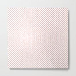 Seashell Pink Polka Dots Metal Print