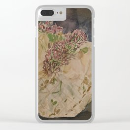 Flowers for the Kitchen Clear iPhone Case