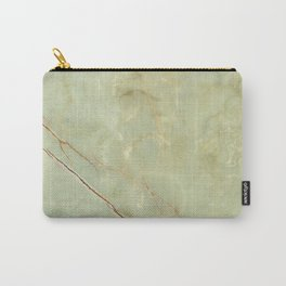 Mint Marble Pattern Carry-All Pouch