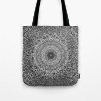 islam Tote Bags featuring Ash Mandala by Mantra Mandala
