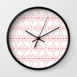 Coral Line Graphic Wall Clock
