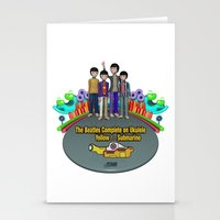 yellow submarine Stationery Cards featuring Yellow Submarine by The Beatles Complete On Ukulele
