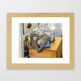 Heart on box Framed Art Print