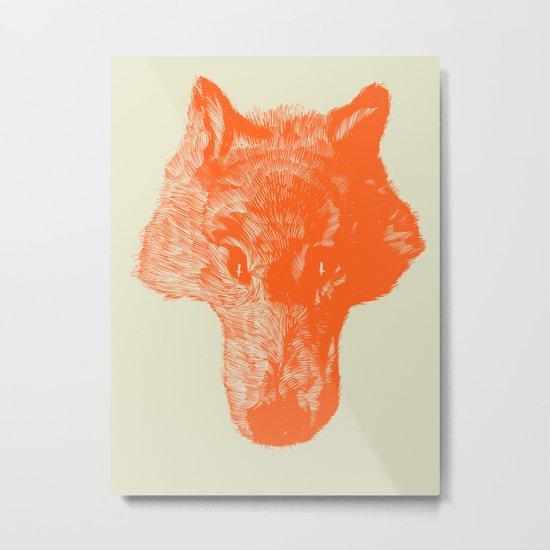 Head Coyote Metal Print