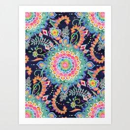 Color Celebration Mandala Art Print