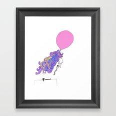 Let the wind lead me. Framed Art Print