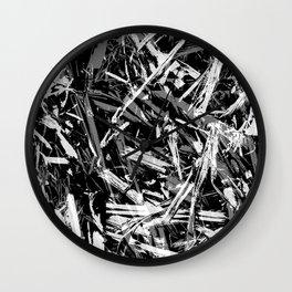 Straw black 2 Wall Clock