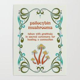 Sacred Mushroom Medicine Poster