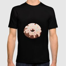 Sprinkle Donut Mens Fitted Tee Black SMALL