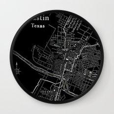 Vintage Austin Negative Wall Clock