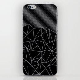 Ab Lines 45 Grey and Black iPhone Skin