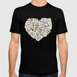 Camera Heart - on yellow T-shirt