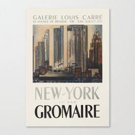 Marcel Gromaire - Exhibition poster for the Galerie Louis Carré, 1951 Canvas Print