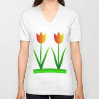 discount V-neck T-shirts featuring Young at heart by Roxana Jordan