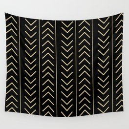Mudcloth Black Wall Tapestry