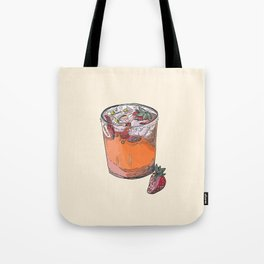 Strawberry chamomile paloma, cocktail, cocktails, beverage Tote Bag