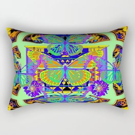 Colorful Fantasy Decorative Butterfly Blue-purple Worlds Patterns Rectangular Pillow