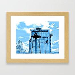 Old Factory in Blue Framed Art Print