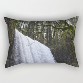 Middle North Falls - Silver Falls State Park Rectangular Pillow